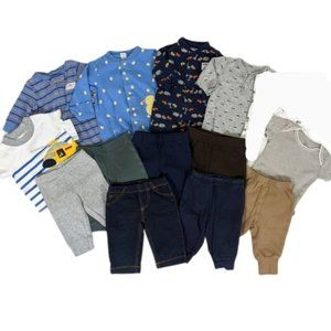 Baby Boy 3 Months Lot of 13 Pieces Pants Pajamas